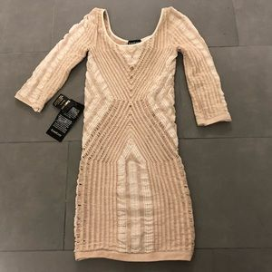 BEBE Mini Body Hugging Sexy Dress P/S